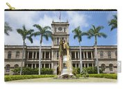 King Kamehameha In Leis Carry-all Pouch