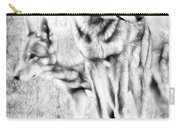 Alpha Male Black And White Carry-all Pouch