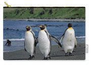 King Penguin Trio On Shoreline Carry-all Pouch