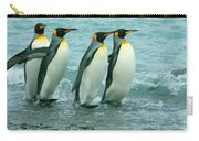 King Penguins Going To Sea Carry-all Pouch