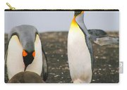 King Penguins With Chick And Egg Carry-all Pouch