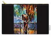 Kiss After The Rain - Palette Knife Oil Painting On Canvas By Leonid Afremov Carry-all Pouch
