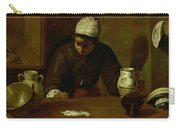 Kitchen Maid With The Supper At Emmaus, C.1618 Oil On Canvas Carry-all Pouch
