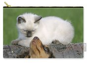 Kitten And Puppy Playing Carry-all Pouch