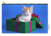 Kitten In Gift Box Carry-all Pouch