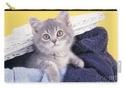 Kitten In Laundry Carry-all Pouch