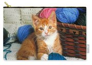 Kitten Playing With Yarn Carry-all Pouch