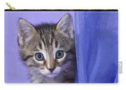 Kitten With A Curtain Carry-all Pouch