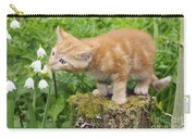 Kitten With Flowers Carry-all Pouch