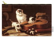 Kittens Playing With A Guitar Carry-all Pouch