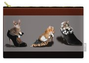 Kittens In Designer Ladies Shoes Carry-all Pouch