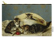 Kittens Up To Mischief Carry-all Pouch