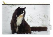 Kitty Cat In The Snow Carry-all Pouch