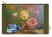 Kitty In The Roses Carry-all Pouch