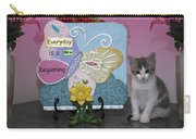 Kitty Says Every Day Is A New Beginning Carry-all Pouch