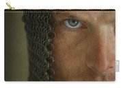 Knight In Chainmail Portrait Carry-all Pouch