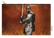 Knight In Shining Armour On A Medieval Battlefield Carry-all Pouch