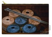 Knitting Yarn In A Wooden Box Carry-all Pouch