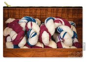 Knitting Yarn In Patriotic Colors Carry-all Pouch