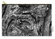 Knots And Swirls Bw Carry-all Pouch