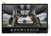 Knowledge Inspirational Quote Carry-all Pouch