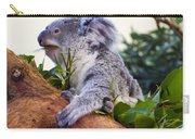 Koala Eating In A Tree Carry-all Pouch