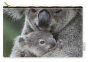 Koala Mother Holding Joey Australia Carry-all Pouch