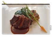 Kobe Beef With Spring Spinach And A Wild Mushroom Bread Pudding Carry-all Pouch