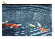 Koi And Sky Reflection Carry-all Pouch