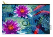 Koi And The Water Lilies Carry-all Pouch