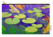 Koi Fish Under The Lilly Pads  Carry-all Pouch by Jon Neidert
