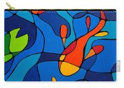 Koi Joi - Blue And Red Fish Print Carry-all Pouch