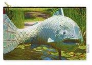 Koi Pond Fish Santa Barbara Carry-all Pouch by Barbara Snyder