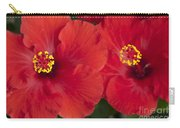 Kokio Ulaula - Tropical Red Hibiscus Carry-all Pouch