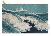 Konen Uehara Waves Carry-all Pouch by Georgia Fowler