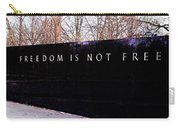 Korean War Veterans Memorial Freedom Is Not Free Carry-all Pouch