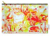 Kurt Cobain Live Concert - Watercolor Portrait Carry-all Pouch