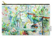 Kurt Cobain Playing The Guitar - Watercolor Portrait Carry-all Pouch