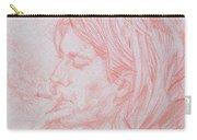Kurt Cobain Smoking-pencil Portrait Carry-all Pouch