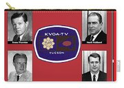 Kvoa Tv On-air Stars Evans Thornton Hank Hubbard Gary Frank Jake Crellin Circa 1966 Collage 2012 Carry-all Pouch