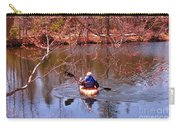 Kyaking On A Lake In Spring Carry-all Pouch