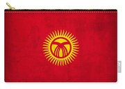 Kyrgyzstan Flag Vintage Distressed Finish Carry-all Pouch