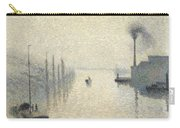 L Ile Lacroix. Rouen. The Effect Of Fog Carry-all Pouch