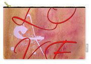L O V E Script With Heart Carry-all Pouch