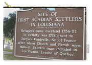 La-029 Site Of First Acadian Settlers In Louisiana Carry-all Pouch