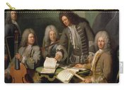La Barre And Other Musicians, C.1710 Oil On Canvas Carry-all Pouch