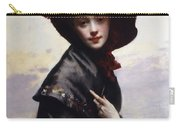La Coquette Carry-all Pouch by Gustave Jean Jacquet