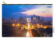 La Defense And Champs Elysees At Sunset In Paris France Carry-all Pouch