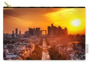 La Defense And Champs Elysees At Sunset Carry-all Pouch by Michal Bednarek