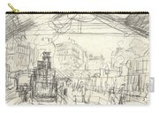 La Gare Saint Lazare Carry-all Pouch by Claude Monet